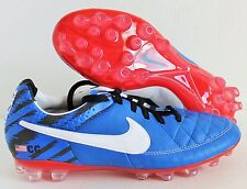 Nike Women's Tiempo Legacy AG Id Cleats Blue-White-Black SZ 8 [653776-992]
