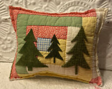 NEW Handmade Christmas Trees Pillow Vintage Quilt Chenille Bedspread Super Cute!