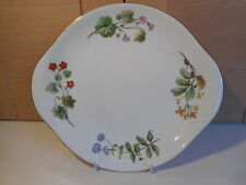 Minton Meadow Smooth gold edge floral China cake sandwich plate