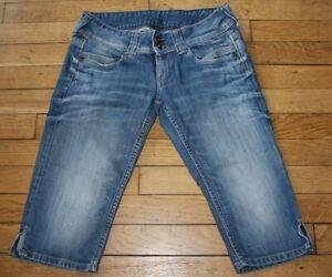 PEPE Jeans Pantacourt Femme W 29  Taille Fr 38 Venus crop (Réf # O034)