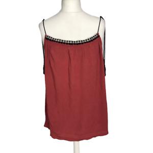 George Women's Plus Size 20 EUR 48 Burgundy Boho Festival Sleeveless Vest Top