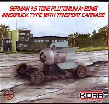 KORA Models 1/72 GERMAN 4.5 TON PLUTONIUM ATOMIC BOMB INNSBRUCK TYPE & TROLLEY