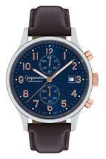 Gigandet SKYSCRAPER Herrenuhr Chronograph Datum Edelstahl Blau Braun G49-001