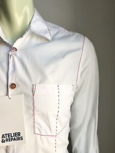 Atelier & Repairs Shirt, Up-Cycled White, Large, New-with-Tags