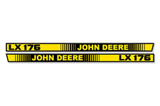 OEM LX 176 Hood Stripes Decal John Deere LX176 Tractor Stickers M116036 M116037