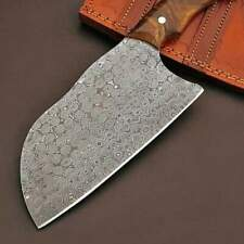 CUSTOM HANDMADE DAMASCUS STEEL KITCHEN CHOPPER CHEF CLEAVER KNIFE