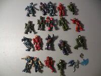 Mega Blocks Minifig Figure Halo Spartans Alien Space Soldier Lot Of 19