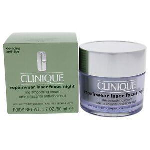Clinique Repairwear Laser Focus Night Line Smoothing Cream for women 1.7Oz/50ML