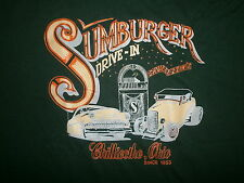 SUMBURGER DRIVE IN CAR HOP 50s DINER SHIRT vtg Antique Car Jukebox Chillicothe