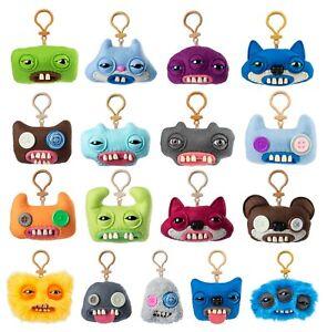 "Fuggler Plush Bag Clip On 5"" Keychain Keyring Funny Ugly Monster With Teeth Gift"