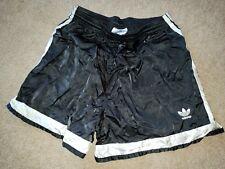 VTG Adidas Athletic Soccer Running Shorts - Mens Large L - Black White Nylon 90s