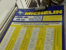 PLAQUE MICHELIN EN PLASTIQUE DUR poids lourd 1984 MICHELIN