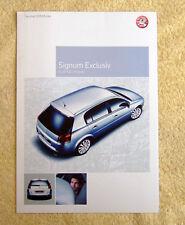 Vauxhall Signum Exclusiv 2005 Models, 1.8, 2.2, 1.9CDTi