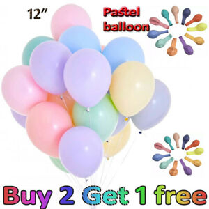 """100 Quality Pastel Finish 12"""" INCH Small Round Latex Balloons Choose Colour UK"""