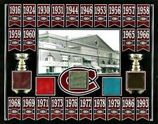 CANADIENS 24 STANLEY CUP CHAMPIONS BANNER 8x10 PHOTO W/ 5 MONTREAL FORUM SEAT