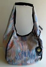 Juicy Couture Womens Multicolored Canvas Slouch Hobo Beach Bag YHRUS361 NWT
