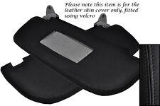Black stitch fits ALFA ROMEO GT 2003-2010 2x pare-soleil peau cuir ne couvrent que