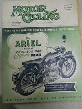 Motor Cycling Magazine, Aug 13, 1953, Ariel Model 4G 1000cc,   red box
