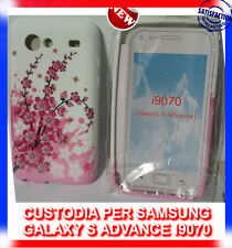 Pellicola + Custodia cover case CILIEGIO per Samsung I9070 Galaxy S Advance