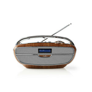Nedis Digital Radio DAB+ | 60 W | UKW | Bluetooth® | RETRO Holz RDDB5310BN