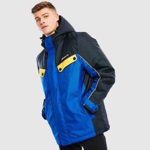 Ellesse Limone Padded Jacket Mens Blue Color Block Active Wear SHC07428-BLU