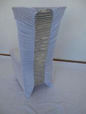 Stuhlhusse STRETCH wei�Ÿ silber mit RAFFUNG für gerade oder runde Stuhllehnen