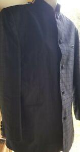 Pontelli Uomo Collection by Supreme Suit Jacket Sz. 38 Black Plaid Button