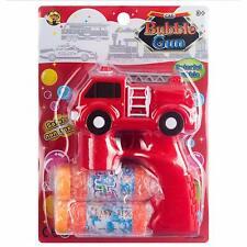 Fun Central -  BC672 LED 5.5Inch Fire Truck Bubble Blaster Gun.