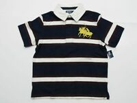 New tag Boys RALPH LAUREN Navy Blue White Short Sleeve Polo Shirt S M L Big Pony
