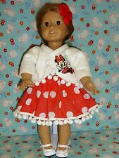 "New doll outfit clothes Disney Minnie Mouse american girl Designa Friend 18"" 19"""