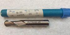 """End Mill (12) Putnam R-32 3/8""""x3/8""""x3.4""""x2-1/2"""" Ball SE. 2- Flute . Edp94324"""
