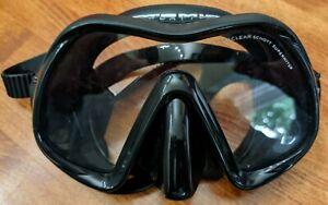 Atomic Aquatics Venom Frameless Diving Face Mask - Black