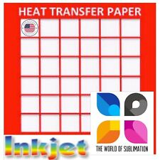 Inkjet Red Grid Light Colored T Shirt Heat Transfer Paper 85x11 100 Sh 1