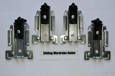 4x Acme 4014X-000 Stanley sliding wardrobe top wheels guides