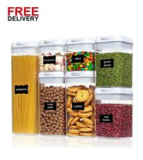 Airtight Food Storage Containers, BPA Free Plastic Cereal Containers
