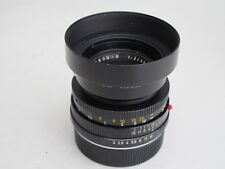 "RARE Leica R 50mm f:2 Summicron with UVa filter/cap/12564 metal hood NICE ""LQQK"""