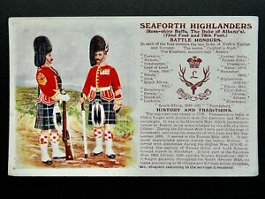 History & Tradition ROSS-SHIRE SEAFORTH HIGHLANDERS Postcard Gale & Polden No.94