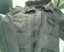 JEANSWEST Men's Casual Jacket/Parka Size L, Charcoal,100%Cotton.