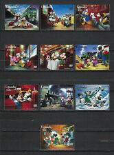 New listing Disney-Uganda 1996 Sc#1398-1407 Characters on the Orient Express Mnh Set $12.50