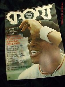 VTG Sport Magazine 25 Year Anniversary Issue Willie Mays MLB Gale Sayers Dock