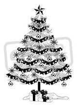 A7 'Christmas Tree' Unmounted Rubber Stamp (SP00006382)
