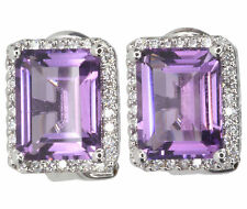Diamond Leverback White Gold Fine Gemstone Earrings