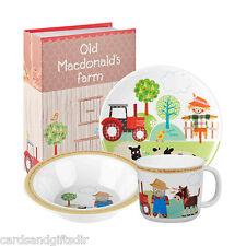 Little Rhymes Old MacDonald Melamine Set Multi-colour 3-piece