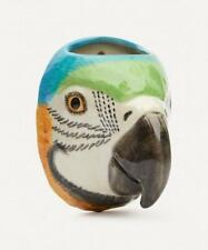 More details for macaw parrot wall mounted vase by quail ceramics tropical bird