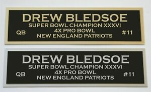 Drew Bledsoe nameplate for signed autographed jersey football helmet or photo
