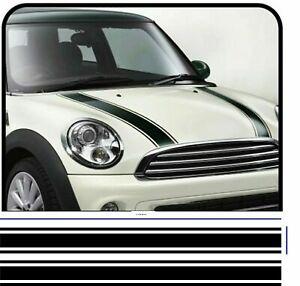 CAR BONNET STRIPES VINYL GRAPHICS DECALS STICKERS RACING 120cm x 6.5cm