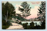 Danbury, CT - EARLY VIEW OF PADANARAM RESERVOIR - DIRT ROAD - POSTCARD Z4