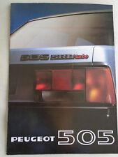 Peugeot 505 SRD Turbo range brochure 1980 French text