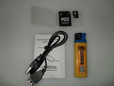LIGHTER SPY CAMERA + MICRO HD 8 GB SD CARD AND ADAPTER  PHOTO VIDEO  AUDIO