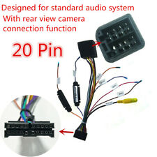 Car Stereo DVD Media Player 20 PIN ISO Wiring Harness with Rear View Camera Port